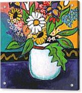 The White Daisy Acrylic Print