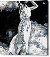 The White Deer Acrylic Print