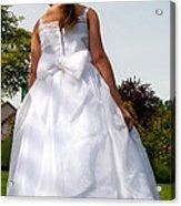 The White Dress Acrylic Print