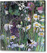 The White Garden Acrylic Print