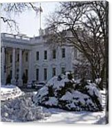 The White House In Winter Acrylic Print