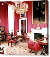 The White House Red Room Acrylic Print