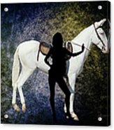 The White Mule Acrylic Print