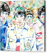 The Who - Watercolor Portrait Acrylic Print