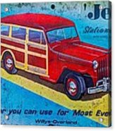 The Willys - Overland Jeep Station Wagon Acrylic Print