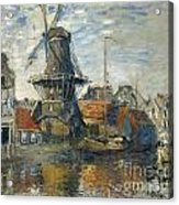 The Windmill On The Onbekende Gracht Amsterdam Acrylic Print