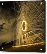 The Windmill Steel Wool Acrylic Print by Israel Marino