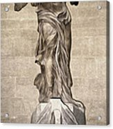 The Winged Victory Of Samothrace Marble Sculpture Of The Greek Goddess Nike Victory Acrylic Print
