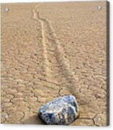 The Winner Death Valley Moving Rock Acrylic Print