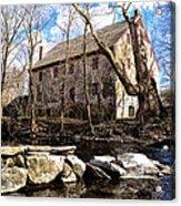 The Wissahickon Creek And Mather Mill Acrylic Print
