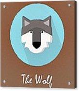 The Wolf Cute Portrait Acrylic Print