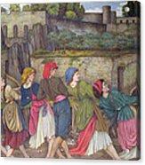 The Women Of Sorrento Acrylic Print by John Roddam Spencer Stanhope