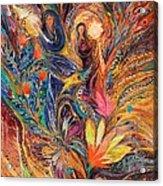The Women Of Tanakh - Miriam With Timbrels Acrylic Print by Elena Kotliarker
