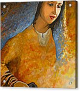 The Wonderment Of Mary - Virgin Mary Madonna Mother Of Jesus Christ Child Acrylic Print