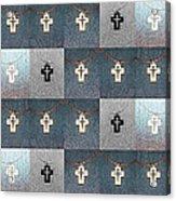 The Wooden Cross Acrylic Print