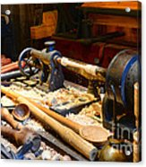 The Woodworker Acrylic Print by Paul Ward