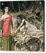 The Wooing Of Grimhilde The Mother Of Hagen From 'siegfried And The Twilight Of The Gods Acrylic Print by Arthur Rackham