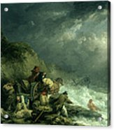 The Wreckers Acrylic Print by George Morland