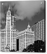 The Wrigley Building Chicago Acrylic Print by Christine Till