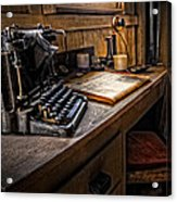 The Writer's Desk Acrylic Print