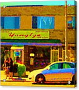 The Yangtze Chinese Food Restaurant On Van Horne Montreal Memories Cafe Street Scene Carole Spandau  Acrylic Print