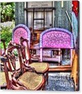 The Yard Sale Acrylic Print by MJ Olsen