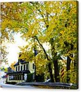 The Yardley Inn In Autumn Acrylic Print