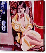 The Yellow Robe Acrylic Print