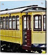 The Yellow Trolley Car Acrylic Print