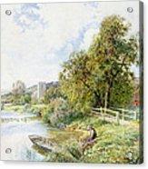 The Young Angler Acrylic Print