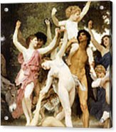 The Youth Of Bacchus Detail Acrylic Print
