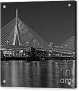 The Zakim Bridge Bw Acrylic Print