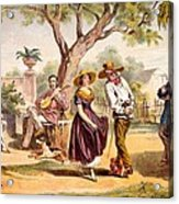 The Zapateado - National Dance, 1840 Acrylic Print