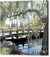 The Zen Bridge Acrylic Print