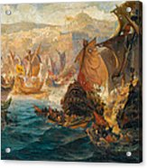 The Crusader Invasion Of Constantinople Acrylic Print