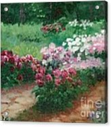 Thelma Steel's Garden Acrylic Print by Ron Bowles