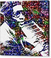 Thelonious Monk Acrylic Print by Jack Zulli