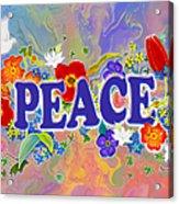 Themes Of The Heart-peace Acrylic Print