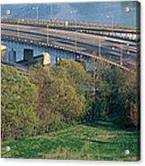 Theodore Roosevelt Bridge, Washington Acrylic Print