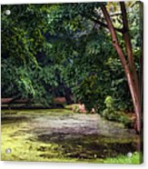 There Is Always A Hope. Park Of De Haar Castle Acrylic Print by Jenny Rainbow