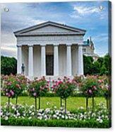 Theseus Temple In Roses Acrylic Print by Viacheslav Savitskiy