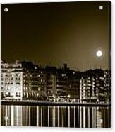 Thessaloniki At Night. Acrylic Print by Slavica Koceva