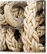 Braided Rope With Eyelet Acrylic Print