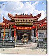 Thien Hau Temple A Taoist Temple In Chinatown Of Los Angeles. Acrylic Print