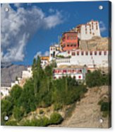 Thiksay Monastery Ladakh Jammu And Kashmir India Acrylic Print