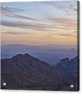 Thimble Peak At Sunset Acrylic Print