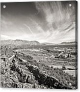 Thingvellir Iceland Black And White Acrylic Print