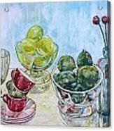 Thinking Of Cezanne Green Acrylic Print