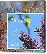 Thinking Of You 2 Acrylic Print