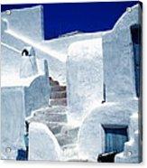 Thirasia Island Ancient House Near Santorini Greece Acrylic Print